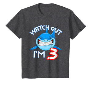 3rd Birthday Shark Shirt Funny 3 Years Old Boy Girl Shirt