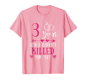 3rd Wedding Anniversary Shirt, 3 Years Marriage Gift For Her