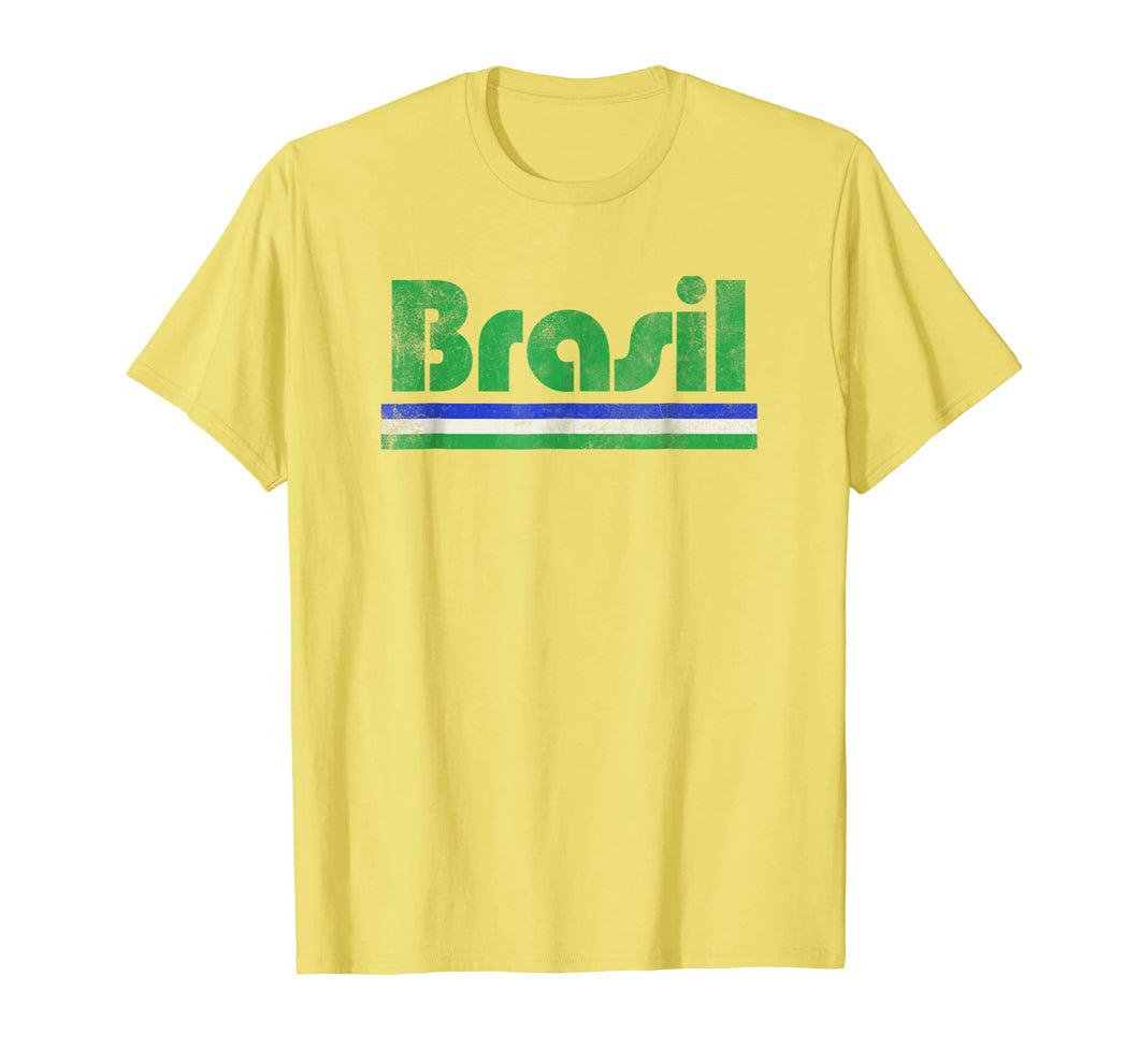 2018 Brasil Brazil Fan Retro Vintage Flag T-Shirt