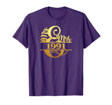 Load image into Gallery viewer, 28th Anniversary T-Shirt Married Since 1991 Mr. & Mrs.
