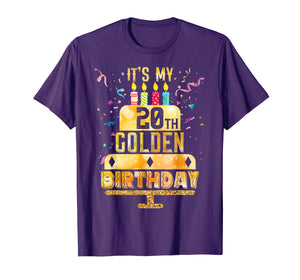 20th Birthday T Shirt It's My 20th Golden Birthday Vintage