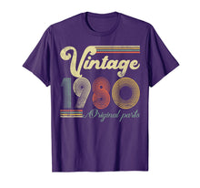 Load image into Gallery viewer, 40 Years Old - Made in 1980 - Vintage 40th Birthday T-Shirt