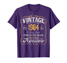 Load image into Gallery viewer, 35th Birthday T-Shirt Made In 1984 Vintage 35 Years Old Gift
