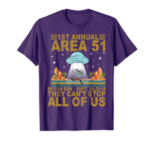 Load image into Gallery viewer, 1st Annual Area 51 5k Fun Run Sept 20.2019 They Can't Stop T-Shirt