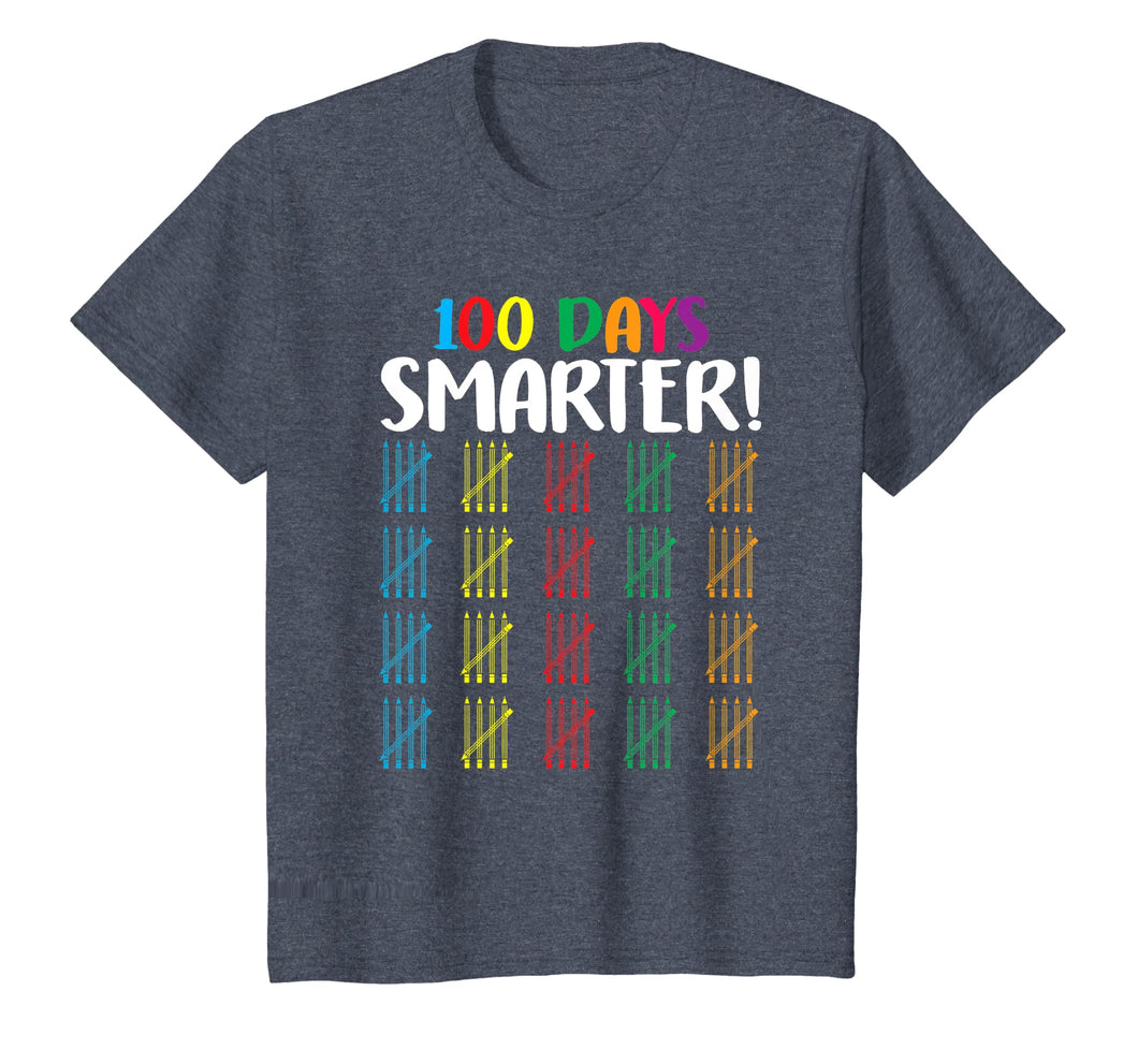 100 Days Smarter T-Shirt Counting Hash Marks Days Of School