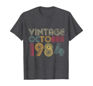 35th Birthday Gifts - Vintage October 1984 T-Shirt