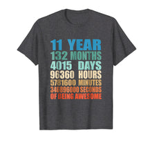 Load image into Gallery viewer, 11 Years Old 11th Birthday Vintage Retro T-Shirt 132 Months
