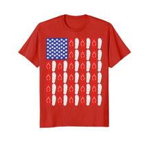 Load image into Gallery viewer, 4th Of July Flip Flop Sea Shell Flag T-Shirt