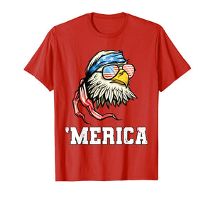 4th Of July Merica Bald Eagle T-Shirt