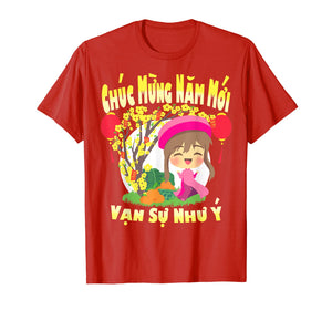 2020 Rat - Girl Vietnamese Lunar New Year Kids T Shirt Gift