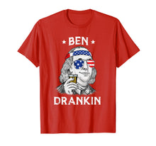 Load image into Gallery viewer, 4th Of July Ben Drankin Benjamin Franklin T-Shirt