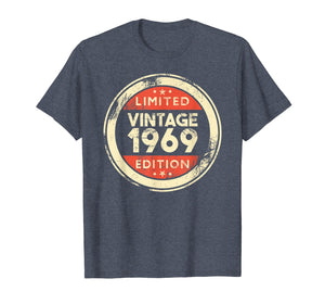 50th Birthday T-Shirt Vintage 1969 Shirt- 50 Years Old Gifts