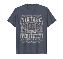 Load image into Gallery viewer, 46 Years Old 1973 Vintage 46th Birthday T Shirt Decorations