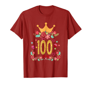 100th Birthday Princess Crown Shirt