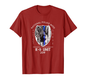 2019 National Police Week K9 Unit Thin Blue Line Cop Gifts