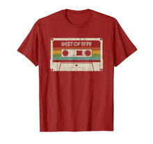 Load image into Gallery viewer, 40 years old, made in 1979, vintage 40th birthday  T-Shirt