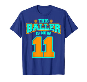 11th Birthday Shirt For Boy Basketball 11 Years Old Kid Gift
