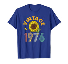 Load image into Gallery viewer, 43rd Birthday Gift Vintage 1976 Sunflower T-Shirt Classic
