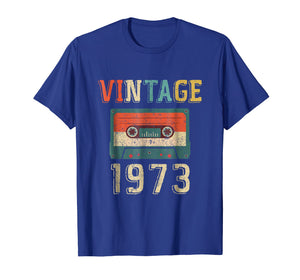 46th Birthday Gift Vintage 1973 46 Years Old Mixtape T-Shir
