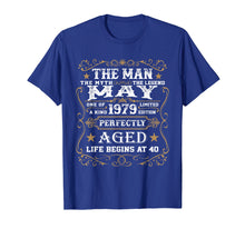 Load image into Gallery viewer, 40th Birthday Gift The Man Myth Legend May 1979 T-Shirt