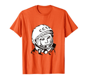 1961 - Yuri Gagarin - First Man In Space T-Shirt Lineart