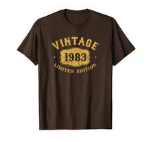 Load image into Gallery viewer, 36 Years Old 36th B-Day Birthday Vintage Gift 1983 T-Shirt