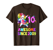 Load image into Gallery viewer, 10 Years Old 10th Birthday Unicorn Dabbing Shirt Girl Party