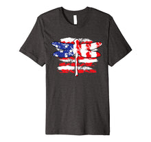 Load image into Gallery viewer, 4th Of July Patriotic Dragonfly With Us American Flag Premium T-Shirt