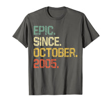 Load image into Gallery viewer, 14 Years Old Shirt Gift- Epic Since October 2005  T-Shirt