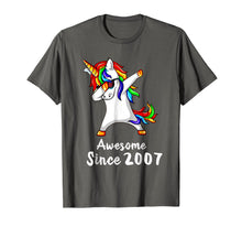 Load image into Gallery viewer, 11 Years Old 11th Birthday Unicorn Dabbing Shirt 2007 Gift
