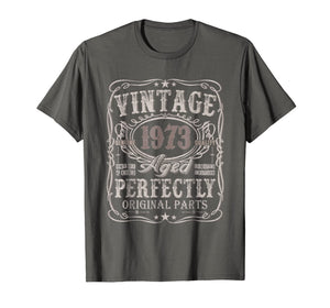 46 Years Old 1973 Vintage 46th Birthday T Shirt Decorations