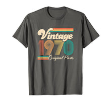 Load image into Gallery viewer, 50th Birthday Gift - Vintage 1970 - Retro Bday 50 Years Old T-Shirt