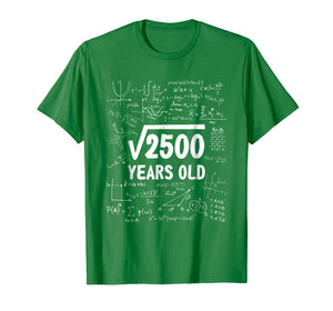 50 Years Old Birthday Gift Square Root 2500 Shirt 50th Bday