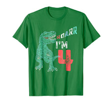 Load image into Gallery viewer, 4th Birthday Shirt - Funny Four Year Old Boys Dinosaur Tees