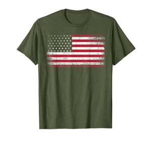 4th of July American Flag Vintage USA Men Women Patriotic T-Shirt