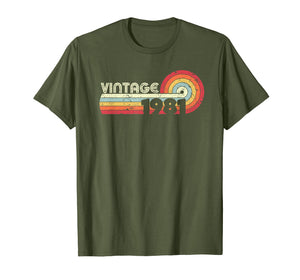 1981 Vintage T Shirt, Birthday Gift Tee. Retro Style Shirt.