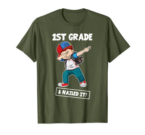 1st Grade And Nailed It! Shirt Boys Dabbing Last Day Gift