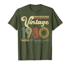 40 Years Old - Made in 1980 - Vintage 40th Birthday T-Shirt