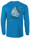 Southern Darlin Sail Boat Sail Away Longsleeve Bright Girlie T-Shirt - SimplyCuteTees