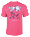 Southern Darlin Preppy Bow Tie or No Tie Anchor Bright Girlie T-Shirt - SimplyCuteTees