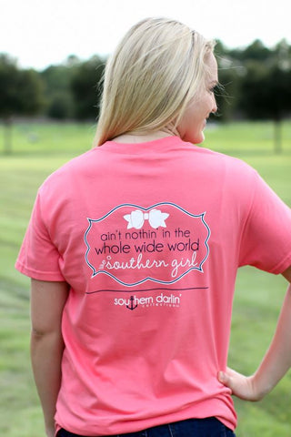 Southern Darlin Nothing in the Whole World like a Southern Girl Bow Bright Girlie T-Shirt - SimplyCuteTees