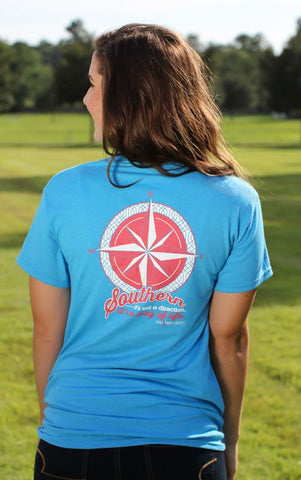 Southern Darlin Compass Southern Way of Life Country Bright Girlie T-Shirt - SimplyCuteTees