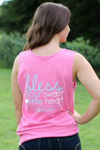 Southern Darlin Bless Your Sweet Little Heart Comfort Colors Bright Girlie T-Shirt Tank Top