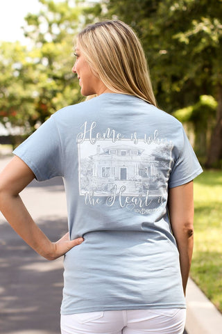 Southern Darlin Home is Where the Heart Is Bright Girlie T-Shirt - SimplyCuteTees