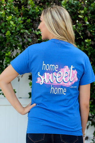 Southern Darlin Kentucky State Home Sweet Home KY Pattern Bright Girlie T-Shirt - SimplyCuteTees