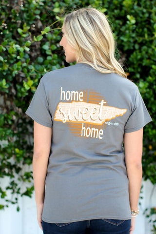 Southern Darlin Tennessee State Home Sweet Home TN Pattern Bright Girlie T-Shirt - SimplyCuteTees