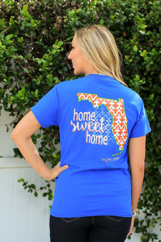 Southern Darlin Florida Home Sweet Home FL Pattern Bright Girlie T-Shirt