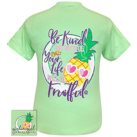 Girlie Girl Originals Preppy Be Kind Pineapple T Shirt