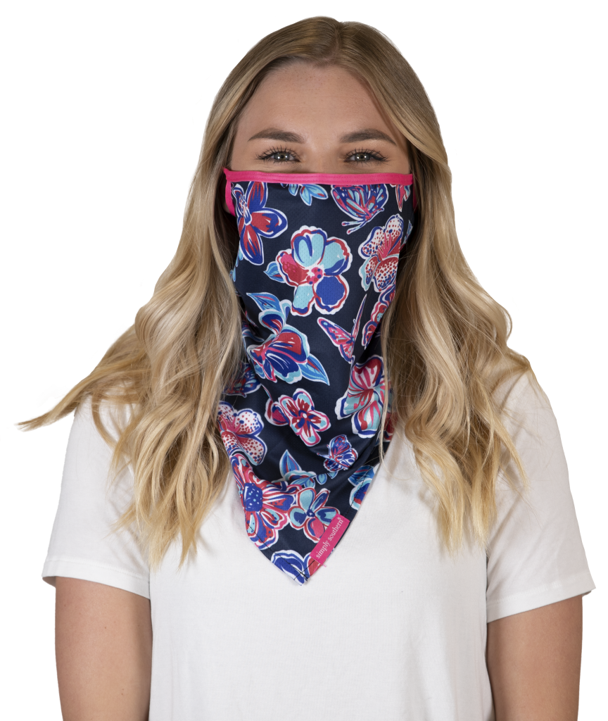 Simply Southern Preppy Butterfly Protective Mask Cover
