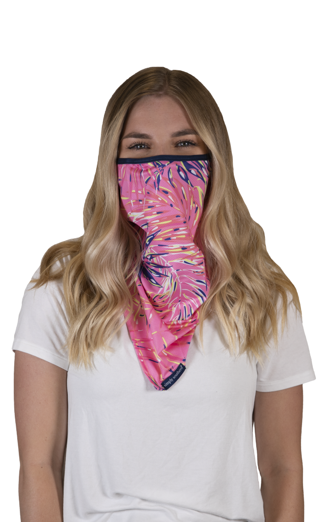Simply Southern Preppy Palms Protective Mask Cover